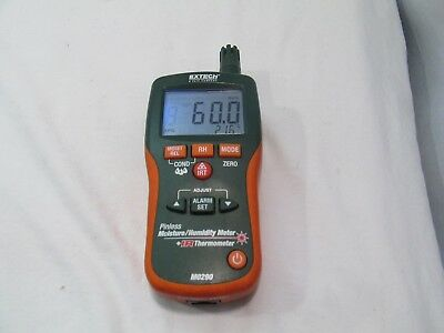 Extech MO290: Pinless Moisture/Humidity Meter Psychrometer IR Therometer <*