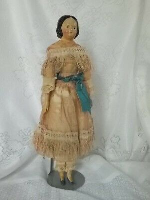 """12 1/2"""" Antique Early 1800's Milliners Model Doll From Estate"""
