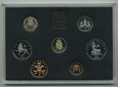 1988 Great Britain Seven Coin Proof Set in Original Box of Issue