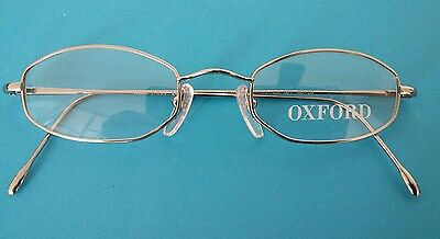 Oxford  0Xo 12   Retro   Glasses New  Silver  46 /20  Made  In  Italy  .