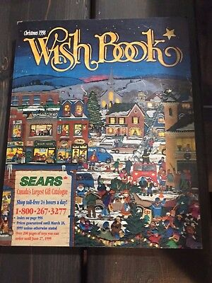 Old Vintage 1998 Sears Christmas Wish Book Catalog - Canada