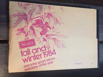 Old Vintage 1984 Sears Fall And Winter Catalog Still Wrapped - Canada
