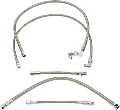Drag Specialties Braided Oil Line Kit For Harley Stainless Steel 0711-0039