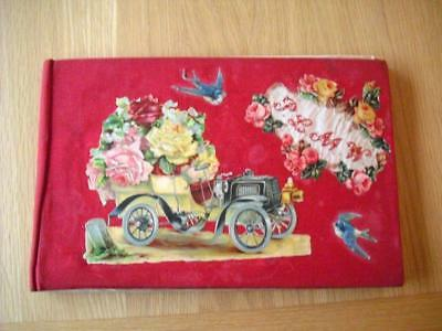 Large Victorian Scrapbook & 300+ Die Cut Relief Scraps inc ABC & gigantic