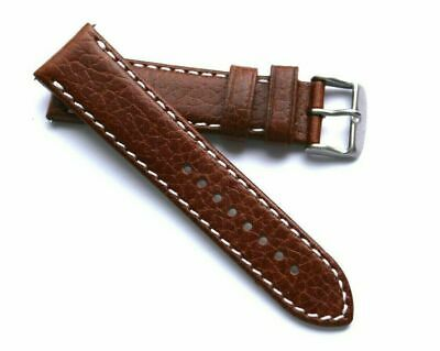 22mm Brown HQ Camel Grain calf Leather Replacement Watch Strap - Seiko 22 Lugs
