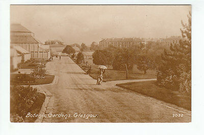 Botanic Gardens Glasgow Real Photograph Pre 1914 Philco Series 3032 Old Postcard