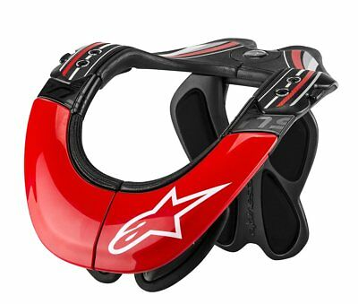 Alpinestars Mens BNS Tech Carbon Neck Support 2014 L / XL Anthracite Red White