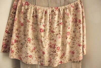 Shabby Chic fabric vintage French floral design material pink faded curtain cafe