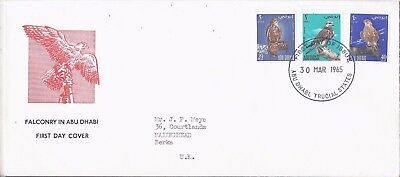 Abu Dhabi 1965 illustrated Falcon first day cover