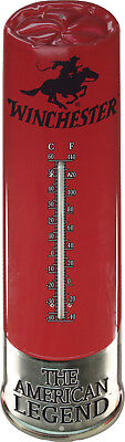 """Rivers Edge Red Tin Winchester Shot Shell Thermometer 25"""" x 7"""""""