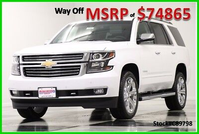 2018 Chevrolet Tahoe MSRP$74865 4X4 Premier DVD Sunroof White 4WD New Navigation Player Heated Cooled Seats 7 Seats 17 2017 18 22 In Rims Camera