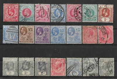 British Colonies small lot of used stamps Montserrat Natal Fiji Gibraltar Lucia
