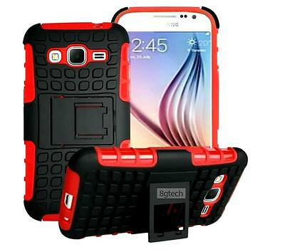 For Samsung Galaxy Grand Prime SM-G530W Tough Rugged Hybrid Hard Stand Case-Red