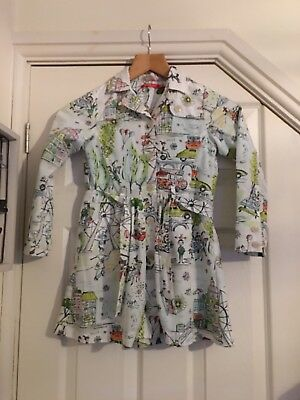 Oilily Girls Trendy Print Jacket Aged 7 Years 122 CM In Fab Condition