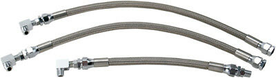 Drag Specialties Braided Oil Line Kit For Harley Stainless Steel 0711-0042