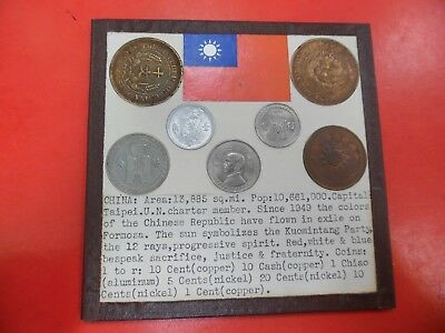 World Coins of China 1 Chiao 10 Cash 1 Cent 10 Cents 2 Cents