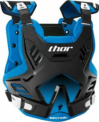 Thor Mens Sentinel GP Chest/Back Roost Guard Protector Medium/Large Black Blue