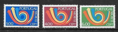 PORTUGAL - 1973 Europa - Set of 3, MNH.  Cat £38