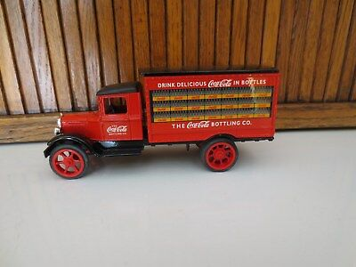 Coca Cola Die Cast Metal Truck Bank - Red Delivery Truck - With Key
