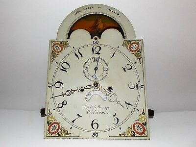 "Rare Early 1800 ""caleb Boney"" Padstow Gf Clock Dial & Movement-Time-Strike-Date"