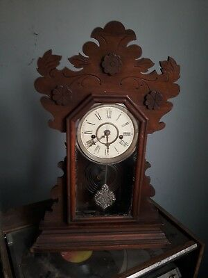 Antique WATERBURY Gingerbread Clock