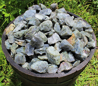 1/2 lb Bulk Lot Natural Rough Labradorite (Raw Rock Stone Specimen Healing 8 oz)