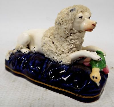 Vintage/Antique STAFFORDSHIRE Pottery Dog Ornament  - H33