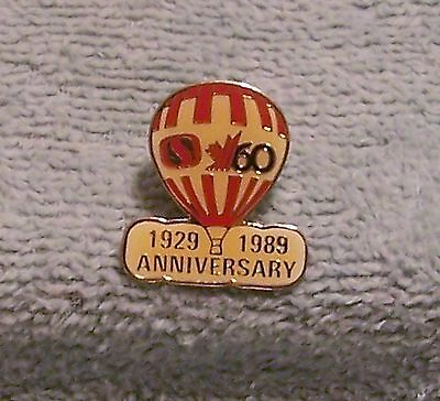 1929-1989 Safeway Grocery Stores 60 Anniversary Balloon Pin