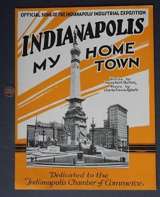 1921 Indianapolis Indiana My Home Town Soldiers & Sailors Monument Sheet Music!
