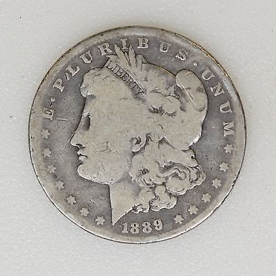 1889-CC AG Cond Morgan Silver Dollar Key Date Decent Color & Surface - I-10374 G