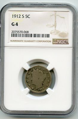 1912-S Liberty Head Nickel (G 4) NGC.  Key Date coin!!!