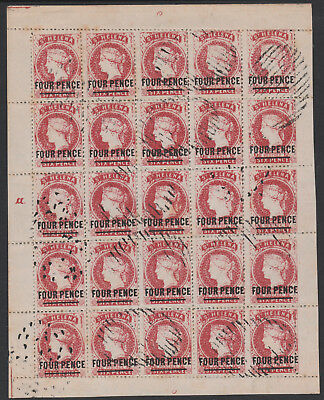 St Helena 6780 - PERKINS BACON 4d forgery by SPIRO SHEET of 25  (West type 1)