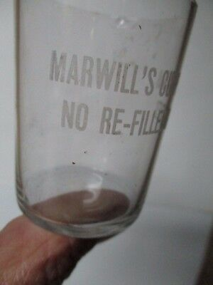 Vintage Etched Shot Glass - Marwill's Cut Price Bar