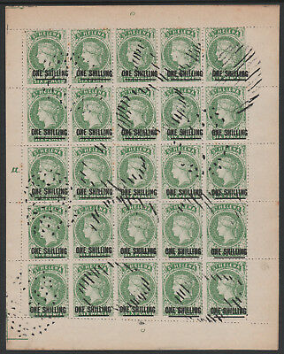St Helena 6782 - PERKINS BACON 1s forgery by SPIRO SHEET of 25  (West type 1)