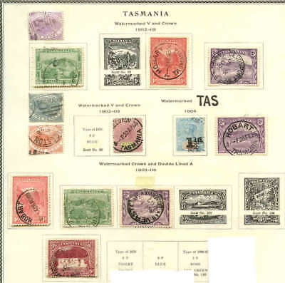 TASMANIA COLLECTION LOT MOUNTED $100+ WITH POSTAL FISCALS 99c NO RESERVE