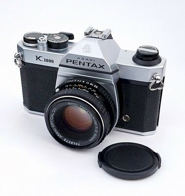 Beautiful Pentax K-1000 Camera with a 50mm f2 Lens, EX++ Cond. with Warranty