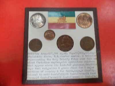 (6) World Coins of Ethiopia The 50 cent coin is Silver