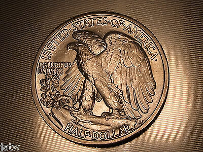 U.S.A.  1942-D Walking Liberty - Half Dollar..  Full Lustre - MS-64..  BU