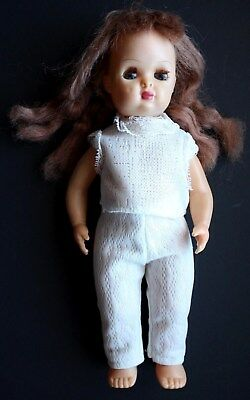 "1950's Vintage Tiny Terri Lee 10"" Walker Auburn Reddish Long Hair"