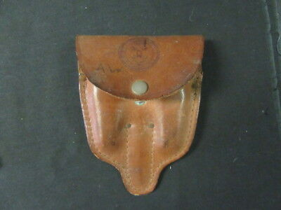 Boy Scout 3 Section Utensil Leather Kit, 1930-40's      c7