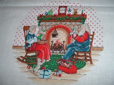 2 Vtg 90s Christmas Memories Soft Book Antique Book Fabric Panels Cut/UC #wd