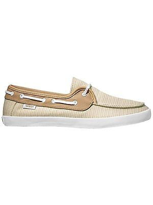NEW VANS Chauffette Natural Stripes Tan White SHOES WOMENS 5 SURF SIDERS SK8 181058324