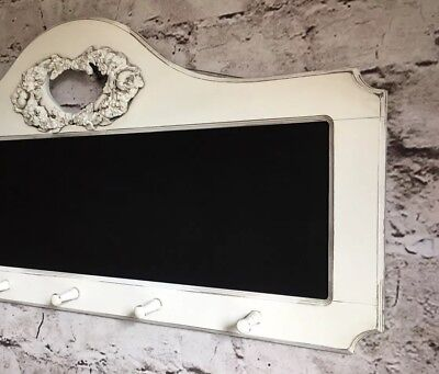 White Coat Rack With Chalkboard, Shabby Chic Chalkboard Coat Rack