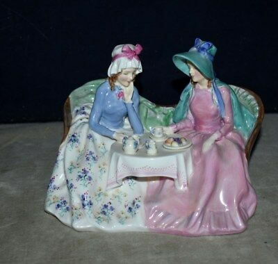 Classic Early Royal Doulton 'afternoon Tea' Porcelain Figurine Hn 1747