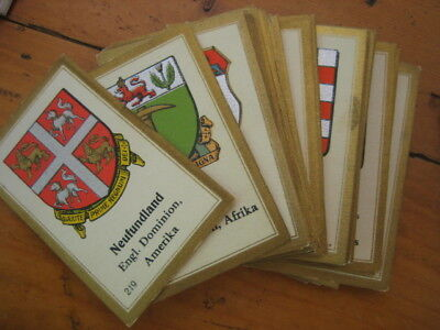 Abdulla Berlin Germany Cigarette Card s ~60 Coats of Arms ?? Good