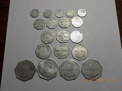 Set of 19 Oklahoma Tokens - ENID / BUTTREY / OKLAHOMA - Great Collection!
