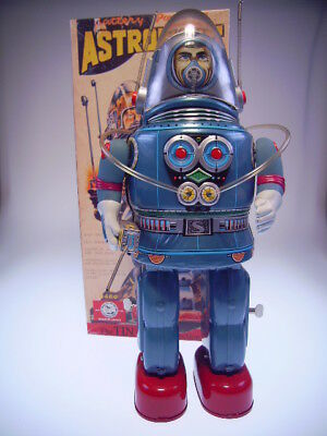 "GSR ROBOT OSAKA TIN TOY INSTITUT OT06-0181 ""ASTRONAUT"" BLUE, NEU/NEW/NEUFnBOX !"