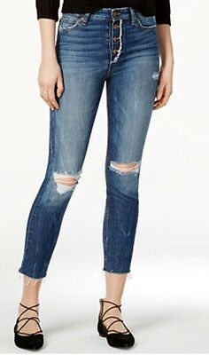 39619ec9409 Joe's Jeans Charlie High Rise Destroyed Skinny Ankle Jeans In Maita Wash 30  New