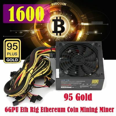 1600W Power Supply For 6GPU Eth Rig Ethereum Coin Mining Miner WUdicatQX