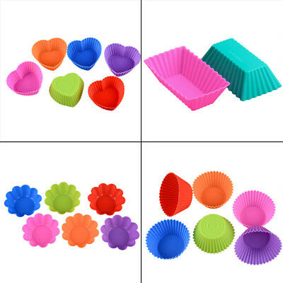 Silicone Cup Cake Muffin Chocolate Cupcake Cases Baking Cup Cookie Mould 4 Type